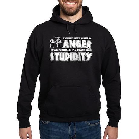 Anger vs. Stupidity Hoodie (dark)