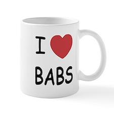 I heart babs Mug