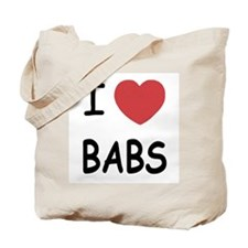 I heart babs Tote Bag