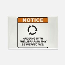 Librarian / Argue Rectangle Magnet (10 pack)