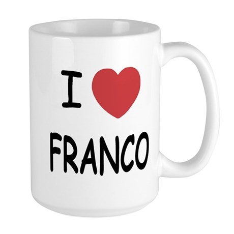I heart franco Large Mug