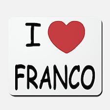 I heart franco Mousepad