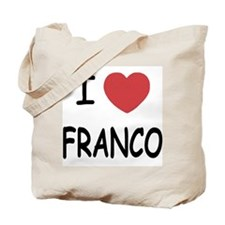 I heart franco Tote Bag