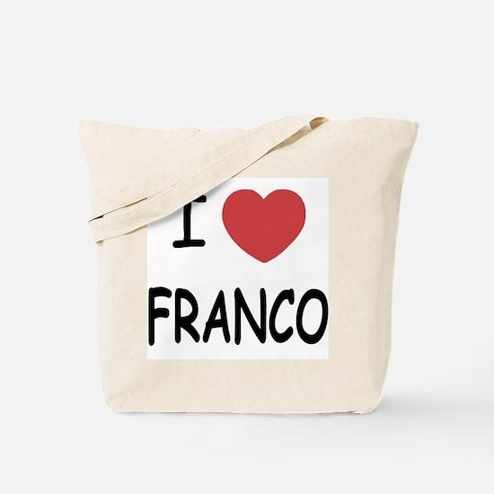 I heart franco Tote Bag