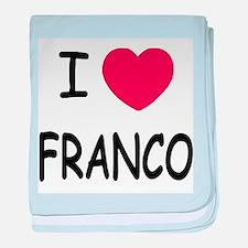 I heart franco baby blanket