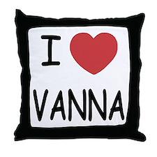 I heart vanna Throw Pillow