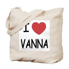 I heart vanna Tote Bag