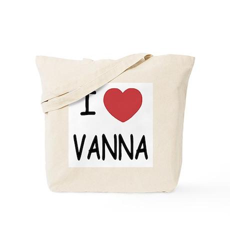 I heart vanna Tote Bag