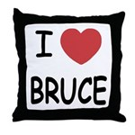 I heart bruce Throw Pillow