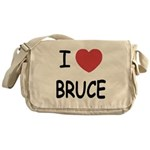 I heart bruce Messenger Bag