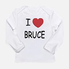 I heart bruce Long Sleeve Infant T-Shirt