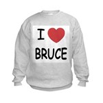 I heart bruce Kids Sweatshirt