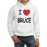 I heart bruce Hooded Sweatshirt