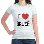 I heart bruce Jr. Ringer T-Shirt