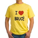 I heart bruce Yellow T-Shirt