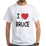 I heart bruce White T-Shirt