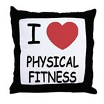 I heart physical fitness Throw Pillow