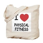 I heart physical fitness Tote Bag