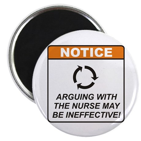"Nurse / Argue 2.25"" Magnet (100 pack)"