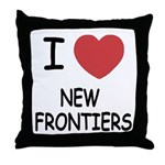 I heart new frontiers Throw Pillow
