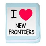 I heart new frontiers baby blanket