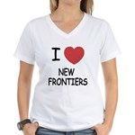 I heart new frontiers Women's V-Neck T-Shirt