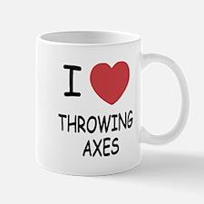 I heart throwing axes Mug