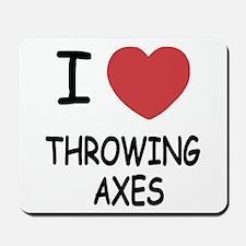 I heart throwing axes Mousepad