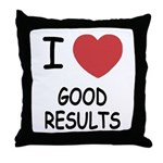 I heart good results Throw Pillow