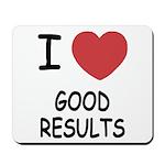 I heart good results Mousepad