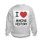 I heart making history Kids Sweatshirt