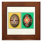 Eggs in a Row Framed Tile