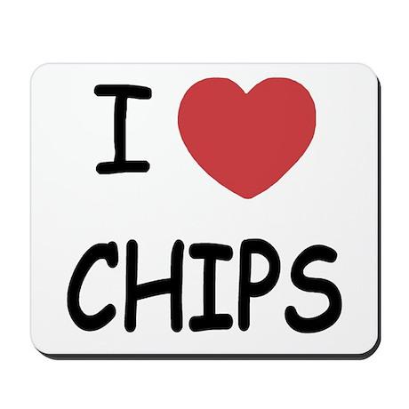 I heart chips Mousepad
