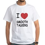 I heart smooth talkers White T-Shirt