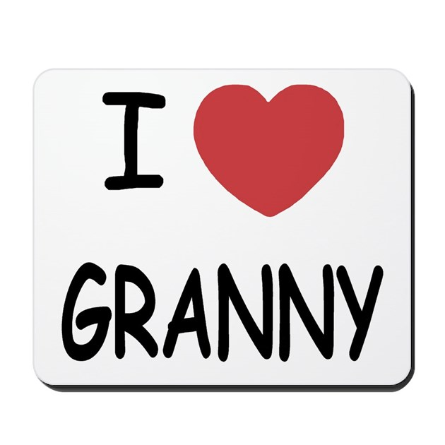 I Heart Granny Mousepad By Some Lovely Things