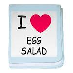 I heart egg salad baby blanket