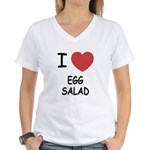 I heart egg salad Women's V-Neck T-Shirt