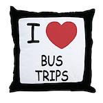 I heart bus trips Throw Pillow