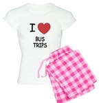 I heart bus trips Women's Light Pajamas