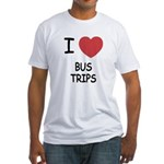 I heart bus trips Fitted T-Shirt