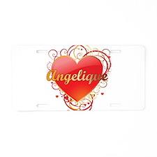 Angelique Valentines Aluminum License Plate