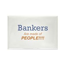 Banker / People Rectangle Magnet (10 pack)