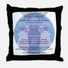 Wolf Wisdom Throw Pillow