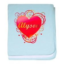 Alyson Valentines baby blanket
