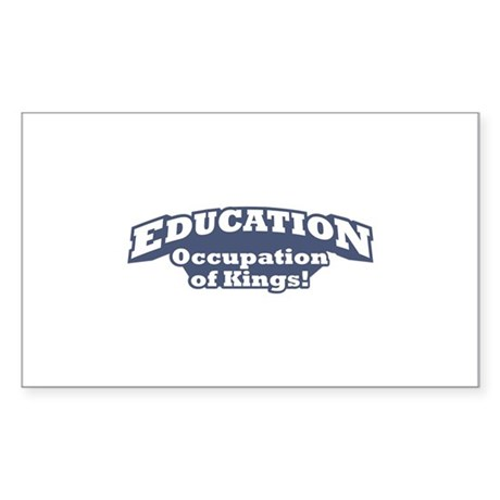 Education / Kings Sticker (Rectangle)