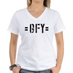 Gfy Woman's V-Neck T-Shirt