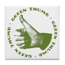 Green Thumb Art Tile