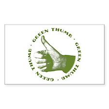 Green Thumb Rectangle Decal