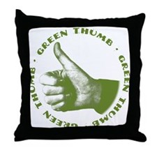 Green Thumb Throw Pillow