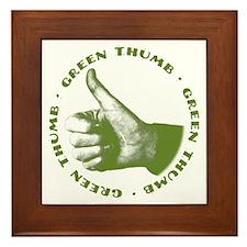 Green Thumb Framed Tile